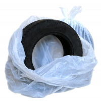 Мешки для колес белые ПНД (700+400) х 1100 х 0,015мкм (100шт) рулон АвтоПак
