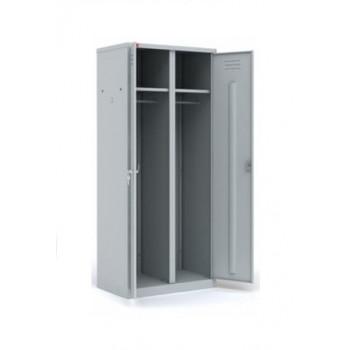 Металлический двухсекционный шкаф для одежды Пакс Металл
