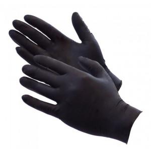 Перчатки нитриловые черные размер S 100шт