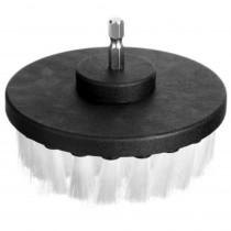 Щетка мягкая, шестигранник 100мм Soft white brush for drill ArcticLime