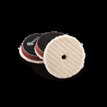 Меховой круг стриженный с отверстием конусообразный 100 мм (подложка 80 мм) Autech