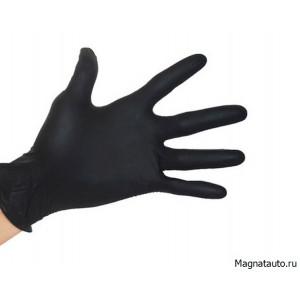 Перчатки нитриловые черные размер L 100шт