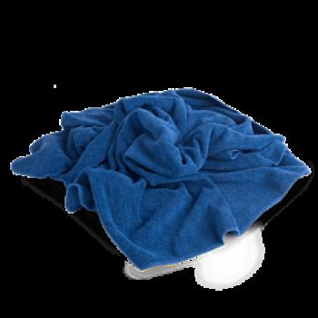 Полотенце оверлочная для сушки кузова после мойки 55*80 см синяя Autech