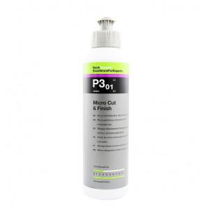 Koch Chemie Micro Cut & Finish P3.01 Микро-абразивная полировальная паста с воском карнаубы 250мл