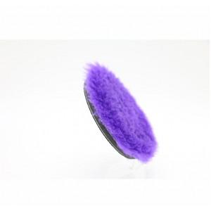 Меховой полировальный пурпурный круг 125/150мм Purple long wool buffing pad North Wolf