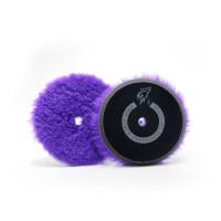 Меховой полировальный пурпурный круг 125мм Purple long wool buffing pad North Wolf