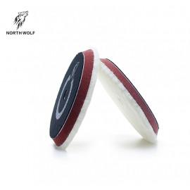 Меховой стриженный круг 150мм Stripe wool buffing pad North Wolf