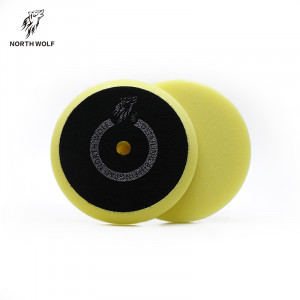 Полировальный круг 125 мм желтый DA buffing pad yellow for polishing North Wolf