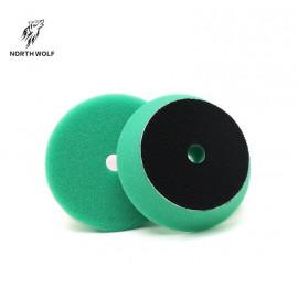 Полировальный круг 75 мм зеленый DA buffing pad green for heavy cut North Wolf