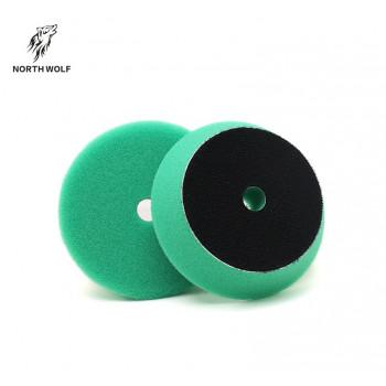 круг 75 мм зеленый DA buffing pad green for heavy cut North Wolf