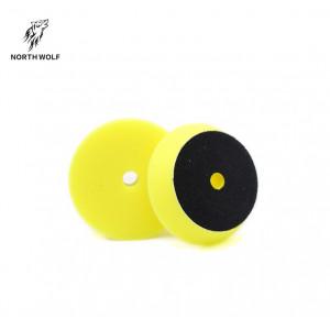 Полировальный круг 75 мм желтый DA buffing pad yellow for medium cut North Wolf