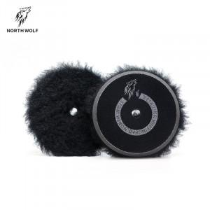 Полировальный круг меховой 125мм Black long wool buffing pad North Wolf