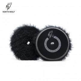 Полировальный круг меховой 150мм Black long wool buffing pad North Wolf