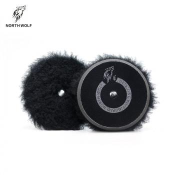 Круг меховой 150мм Black long wool buffing pad North Wolf