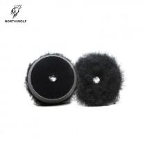 Полировальный круг меховой 75мм Black long wool buffing pad North Wolf