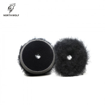 круг меховой 75мм Black long wool buffing pad North Wolf