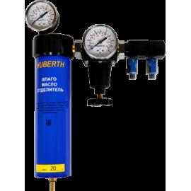Фильтр воздушный влагомаслоотделительный с редуктором 1 ступень Huberth