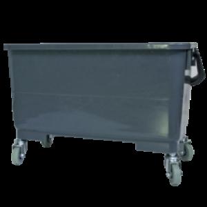 Ведро для мойки на колесиках с прямой отжимной решеткой объем 25л Autech